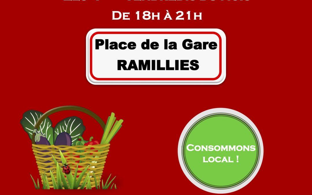 Marché de producteurs locaux et artisans à Ramillies