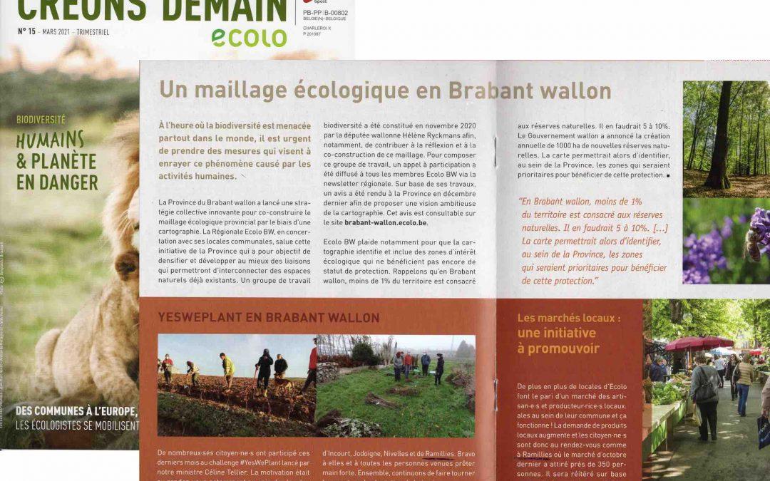 Reconnaissance de notre locale en Brabant wallon